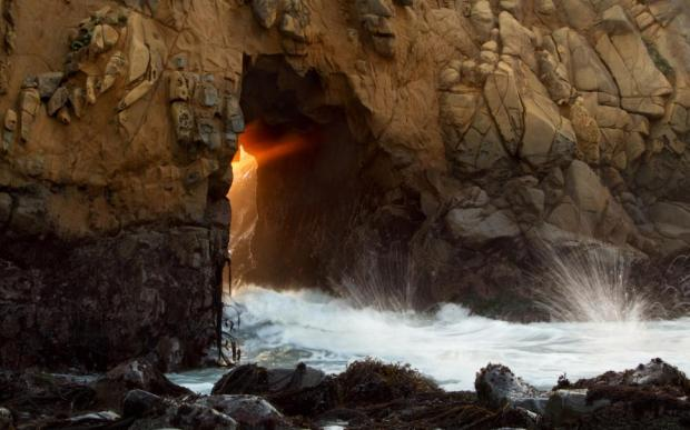 sunlight-cave-ocean-water-rock-stone-hd-1080P-wallpaper-middle-size